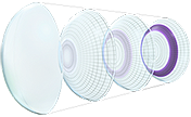 Precision Profile design of AIR OPTIX® AQUA Multifocal contact lenses - Far View